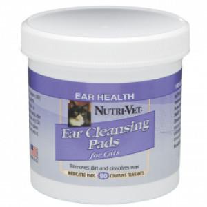 Nutri-Vet Feline Ear Wipe Влажные салфетки для гигиены ушей кошек